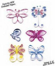 Mariposas de filigrana de papel