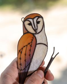 Window Hanging Stained Glass Mosaic Owl