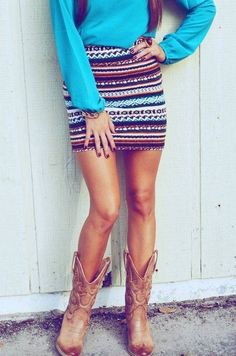 chic cute outfits with cowboy boots. For y'alls inner cowgirl