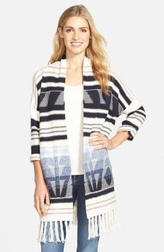 NIC+ZOE Fringe Open Front Cardigan (Nordstrom Online Exclusive) available at #Nordstrom