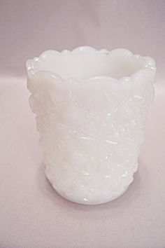 Westmoreland Milk Glass Daisy & Button Toothpick Holder. Click on the image for more information.