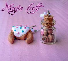 Orecchini Bottiglietta con mini ciambelle e brioche di MagieCraft, €6.00
