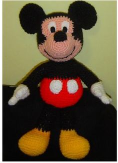 Mickey Pattern-who can make this for me! Crochet Toys Patterns, Amigurumi Patterns, Stuffed Toys Patterns, Crochet Crafts, Crochet Dolls, Crochet Yarn, Crochet Projects, Craft Projects, Mickey Mouse Crafts