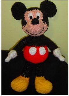 Amigurumis en español. Patron Mickey