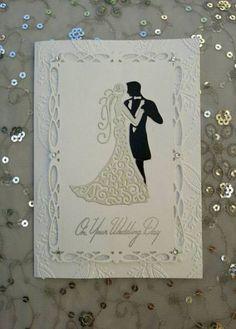 New wedding diy card hochzeit 17 Ideas 40th Anniversary Gifts, Wedding Anniversary Cards, Second Anniversary, Anniversary Ideas, Wedding Couples, Diy Wedding, Wedding Day, Card Wedding, Wedding Gifts