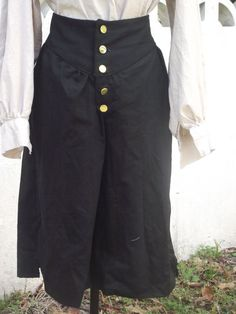 Pirate Pants BLACK Cosplay Reenactment SCA HEMA 100/% Cotton Good Quality