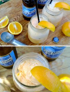Blue Moon Beer Floats... I WANT TO MAKE THIS. Someone give me now noms noms