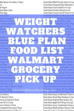 Find Weight Watchers friendly foods to add to your Walmart grocery list. If you are using the online ordering and picking up groceries these myWW Blue Plan ideas are separated by smartpoints to help your prepare. Weight Watchers Meal Plans, Weight Loss Diet Plan, Weight Loss Drinks, Fast Weight Loss, Weight Watchers Points List, Drop Weight Fast, How To Lose Weight Fast, Weigt Watchers, Ww Online