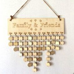 DIY Wooden Family And Friends Birthday Calendar Reminder Board - ROUND  Mobile
