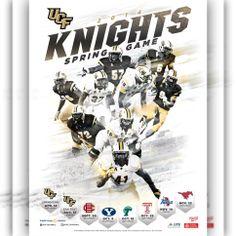 UCF Football 2014 Spring Game Poster