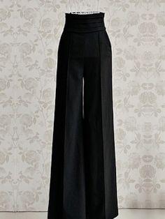 Elegant High Waist Pure Color Women's Pants