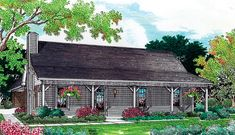 Cabin Ranch House Plan 65638