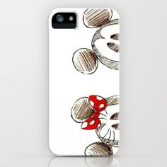 Mickey and Minnie Mouse. iPhone & iPod Case by Christa Morgan ☽ - $35.00