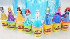 NEW Disney Princess!!! Play Doh Disney Princess Dress Up Magic Clip Doll Toys