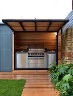 Outdoor Kitchen Plans, Outdoor Kitchen Design, Outdoor Cooking, Bbq Shelter Ideas, Parrilla Exterior, Bbq Shed, Outdoor Grill Station, Outdoor Barbeque, Grill Gazebo