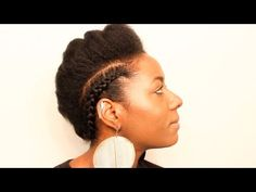 Natural Hair| Braided Faux Hawk| Protective Styling| BEAUTYCUTRIGHT - YouTube