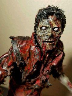 Custom 1/6 Walking Dead Zombie Michael Jackson Thriller Hot Ones Custom Toys