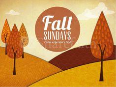 fall sundays church powerpoint design slide 1