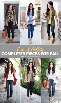 Top 5 Favorite Go-To Casual Completer Pieces for Fall Completer Pieces for Casual Fall OutfitsTop Ten A top ten list is a list of the ten highest-ranking items of a given category. Top Ten or Top 10 may also refer to: Fall Fashion Outfits, Casual Fall Outfits, Look Fashion, Winter Outfits, Autumn Fashion, Womens Fashion, Fashion Tips, Ladies Fashion, Fashion Ideas