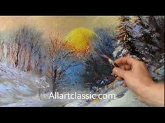 Winter Landscape-Palette Knife Oil Painting