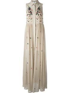 MSGM embellished shirt evening dress