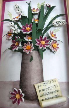 3D paper bouquet
