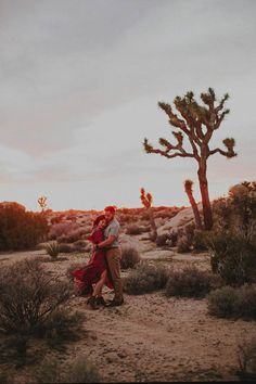 Looking for an epic engagement photo location? It doesn't get steamier than Joshua Tree at sunset!