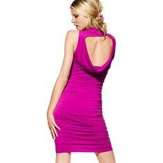 Victoria's Secret New! Draped Open-Back Dress found on Polyvore