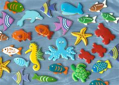 Brimming Sealife Bouquet Hand Decorated Sugar Cookie Gift Collection