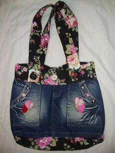 Recicla Los Viejos Pantalones Jeans Y Crea Estos Hermosos Bolsos De Mano Para Obsequiar o Para Vender   Yo Amo Las Manualidades