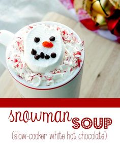 Snowman soup recipe AKA - how to score major wow points with your kids!! :)