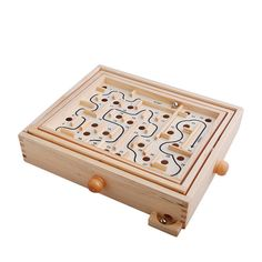 Topwon Wood Labyrinth Table Maze / Balance Board Table Maze Solitaire Game for Kids and Adults - Large - Great gift! Labyrinth Board Game, Labyrinth Maze, Maze Puzzles, Wooden Puzzles, Toys For Boys, Games For Kids, Kids Toys, Coffee Table Games, Articles En Bois