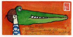 Illustrated Envelopes sent by illustrators to their publishers: David McKee