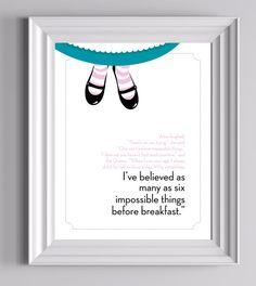 Alice in Wonderland Print by GrandmasTapShoes on Etsy, $12.00