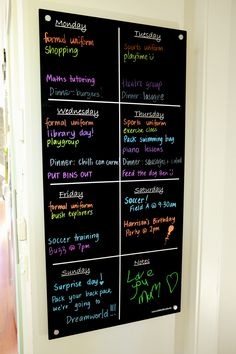 Fabulous Family Organisational System - easy and fun way to include the kids!