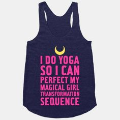 I do Yoga | Sailor Moon tank from Human. I need it!