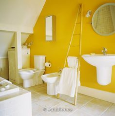 1000 images about gray yellow bathroom ideas on for Bright yellow bathroom ideas