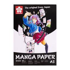 Sakura Manga paper Bristol pad smooth A3 20 sheets 250gsm