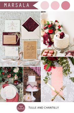 marsala and pink wedding color ideas inspiration for spring summer wedding 2015