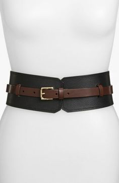Tory Burch Wide Leather Belt available at #Nordstrom