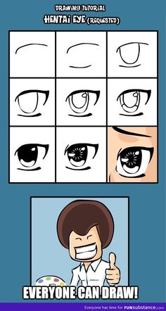 How to draw anime eyes; for some reason I want to try anime