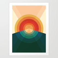 Sonar Artwork Print by Picomodi - X-Small Artwork Prints, Fine Art Prints, Yellow Art, Cool Books, Online Art, Art Images, Home Art, Abstract Art, Gallery Wall