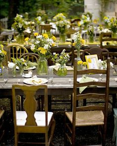 This is really fun.  I wouldn't want so much yellow & green, but I do love the pop of yellow & would love it to be included in my centerpieces if that's possible.