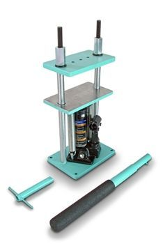 Super tiny 2 ton press in awesome colors. Brilliant. It will be mine!!: