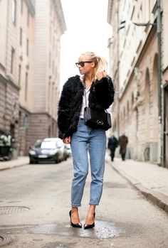 Baggy jeans pointies and fluffy