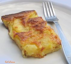 Hozzávalók:  1/2 kg burgonya, tésztához: 2 db tojás, 10 evőkanál liszt, ½ l tej, só.  1. A burgonyát meg... Hungarian Cuisine, Hungarian Recipes, Pizza Snacks, Vegetarian Recipes, Cooking Recipes, Good Food, Yummy Food, Recipes From Heaven, Vegetable Side Dishes