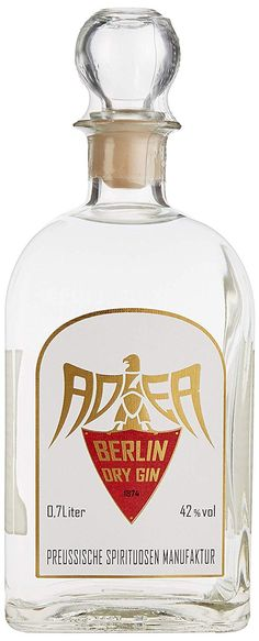 Adler Berlin Dry Gin x l) Gin Bottles, Perfume Bottles, Bebida Gin, Gin Bar, Dry Gin, Gin And Tonic, Liquor, Holland, Cocktails