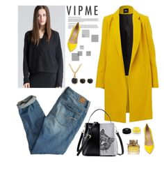 """""""Yellow"""" by sabinakopic ❤ liked on Polyvore featuring American Eagle Outfitters, Gianvito Rossi, Burberry, Givenchy, women's clothing, women, female, woman, misses and juniors"""