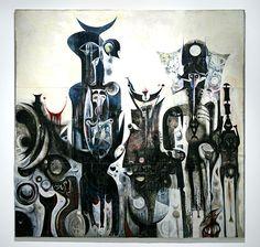 Reborn Sounds of Childhood's Dreams - Ibrahim El-Salahi. Tate Modern Collection