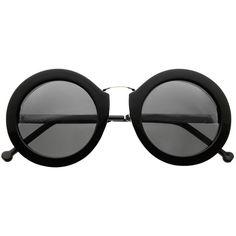 Oversized Large Round Retro Fashion Sunglasses Shades R3110 (148.020 IDR) ❤ liked on Polyvore